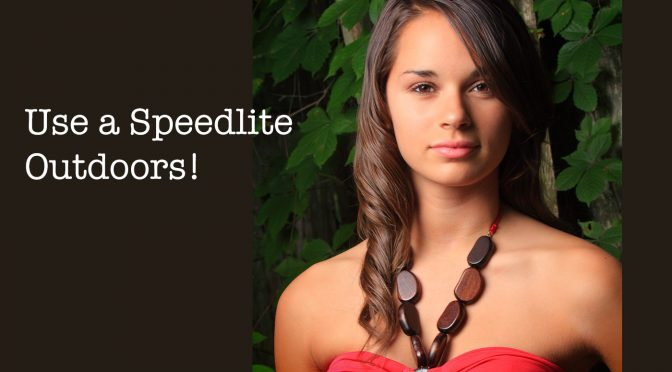 Use a Speedlite and a Softbox for your Outdoor Portraits!